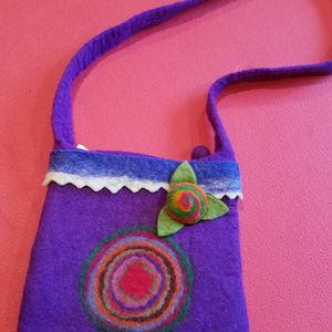 Handbags - Handmade Felted Wool Purse